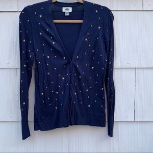 Embroidered Star Cardigan